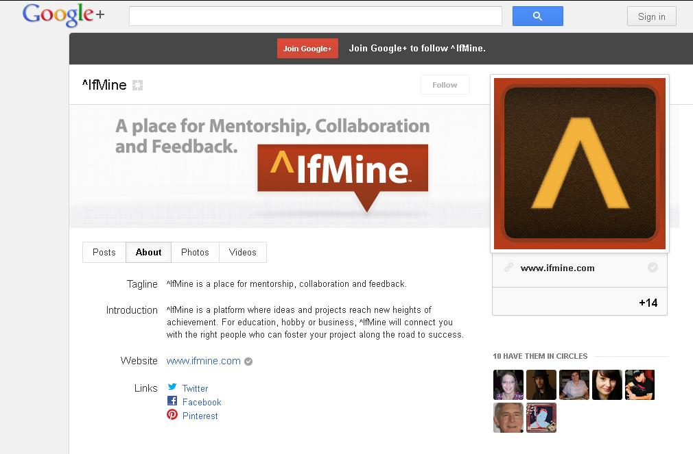 ^IfMine - Google+ Page