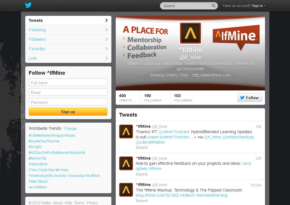 ^IfMine (if_mine) on Twitter