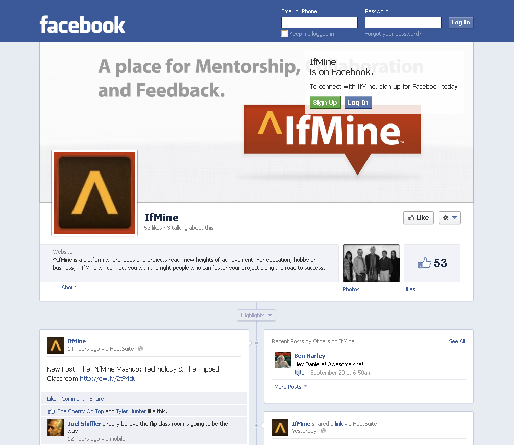 IfMine - Facebook Page
