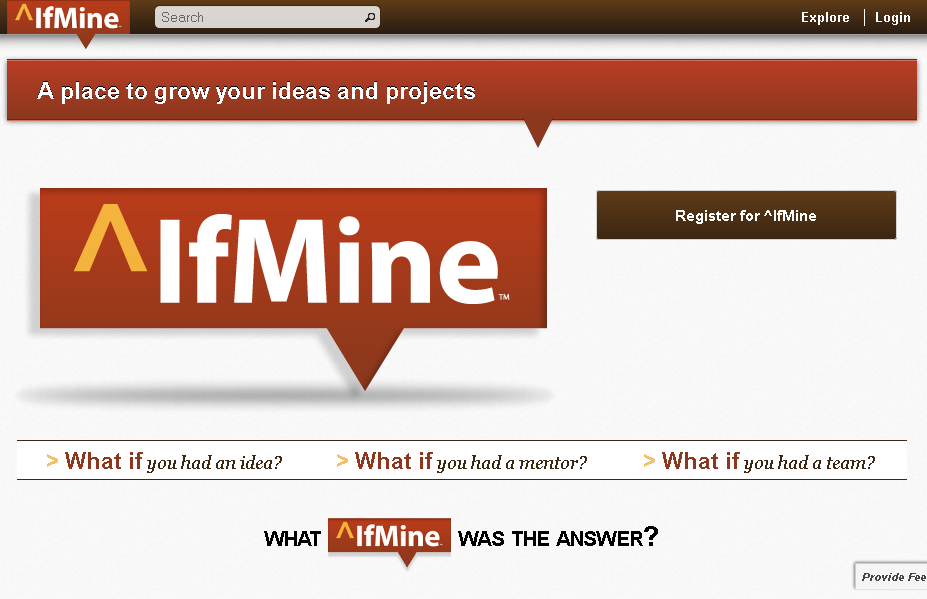 Register for ^IfMine.com - Mentorship Collaboration Feedback